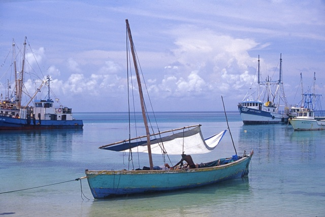 A catboat – Brigg Bay, Corn Island.