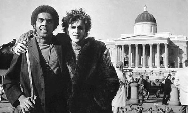 Gil and Caetano, Trafalgar Square, 1969.