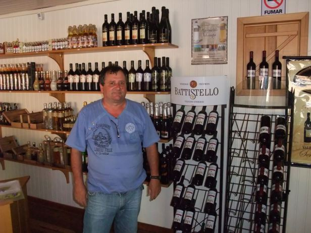 """One of the many wine producers in the """"Vale dos Vinhedos"""", near Bento Gonçalves."""