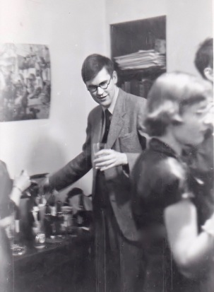 Peter at a party in New Haven, 1953.